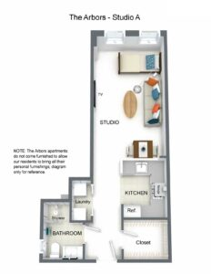Arbors Studio A Floorplan
