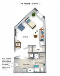 Arbors Studio C Floorplan